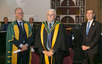 Prof. Mike Zaworotko formally admitted to the Royal Irish Academy