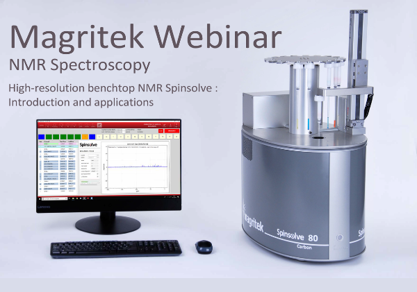 Magritek Webinar NMR Spectroscopy