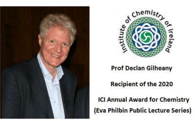 Declan Gilheany receives ICI Annual Award for Chemistry (Eva Philbin Public Lecture Series) 2020