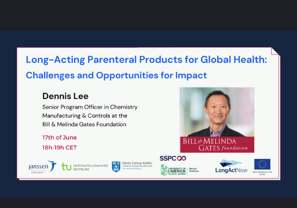 Dennis Lee talks Long-Acting Parenteral Products for Global Health: Challenges and Opportunities for Impact